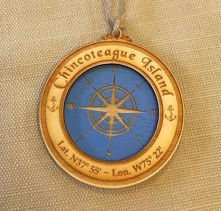 Wooden Compass Ornament
