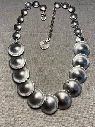 Pewter Circles Necklace