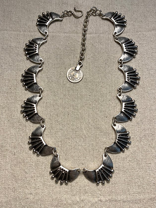 Pewter Half Moon Necklace