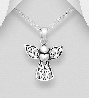 Petite Angel Heart Pendant