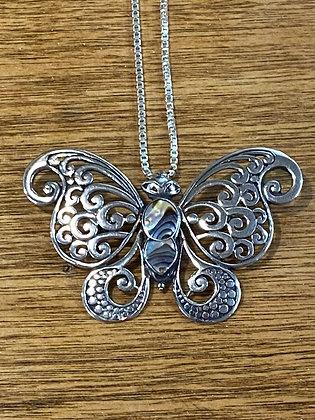Abalone Butterfly Pendant / Brooch