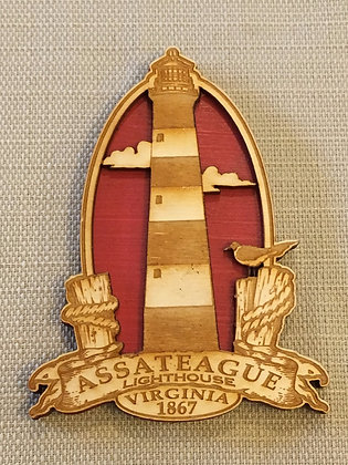 Wooden Assateague Lighthouse Magnet