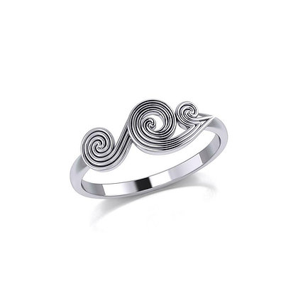Swirl Wave Ring