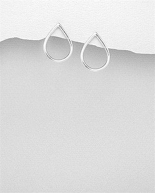 Sleek Teardrop Post Earrings