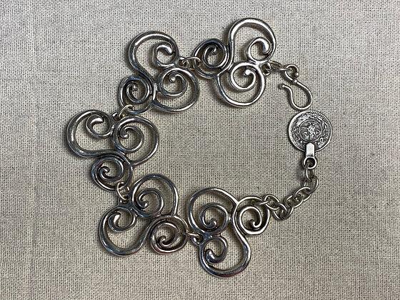 Pewter Swirls Bracelet