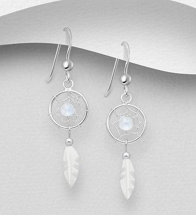 Mother of Pearl Dreamcatcher Earrings