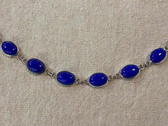 Lapis Lazuli 6 Stone Bracelet