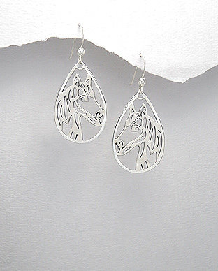 Horse Dangle Earrings
