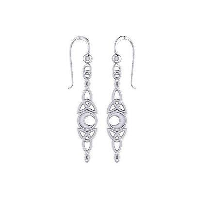Celtic Crescent Moon Earrings