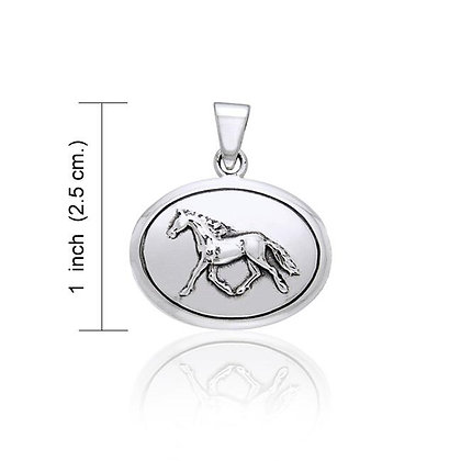 Horse in Oval Pendant