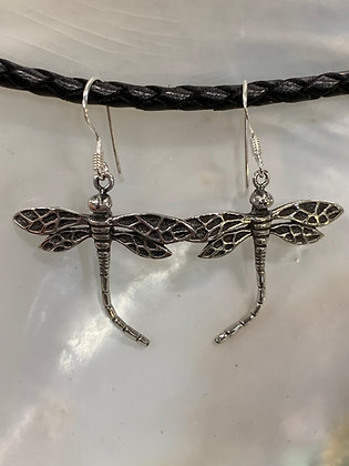 Dragonfly with Bent Tail Earrings