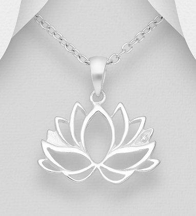 Open Lotus Pendant