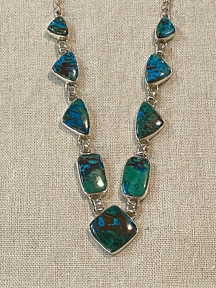 Chrysocolla Square Drop Necklace
