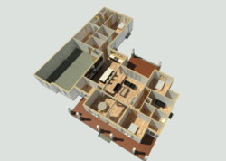 Country Home 3D Floor Plan 2