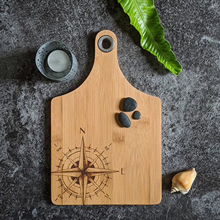 Compass Bamboo Wood Board