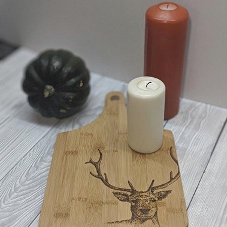 Stag Deer Bamboo Wood Board