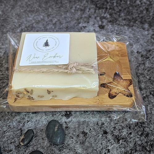 Bamboo Soap Dish & Soap