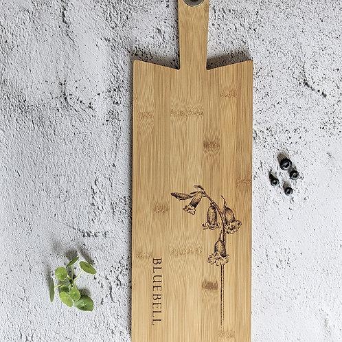 Bluebell Flower Bamboo Wood Board