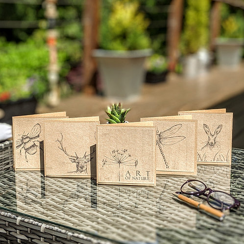 Nature-Inspired Eco Greetings Card Set