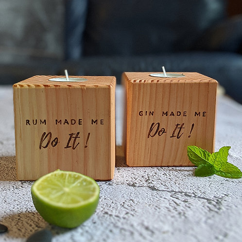 Gin / Rum Made Me Do It Candle Cube