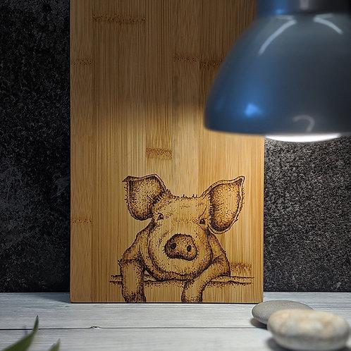 Pig Bamboo Wood Board