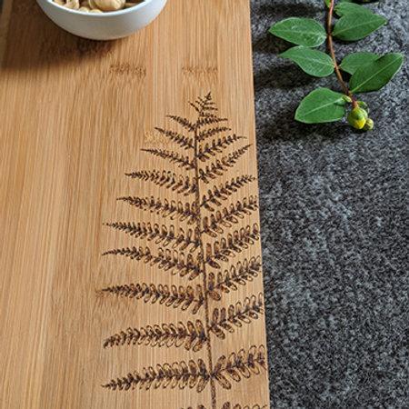 Fern Plant Wood Bamboo Board