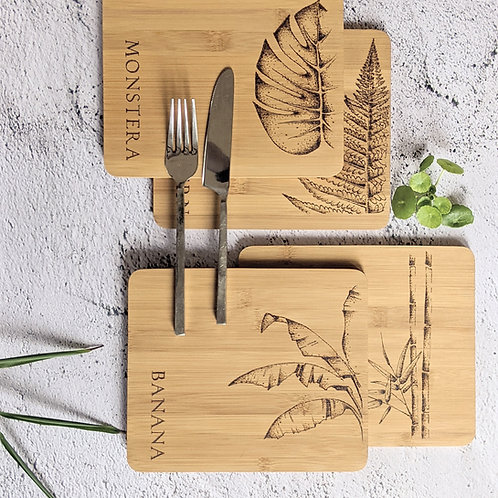 The Leaf Collection Placemat Set