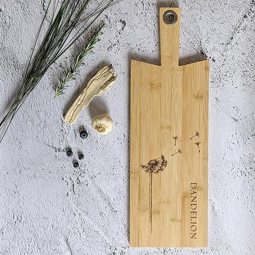 Dandelion Plant Bamboo Wood Board