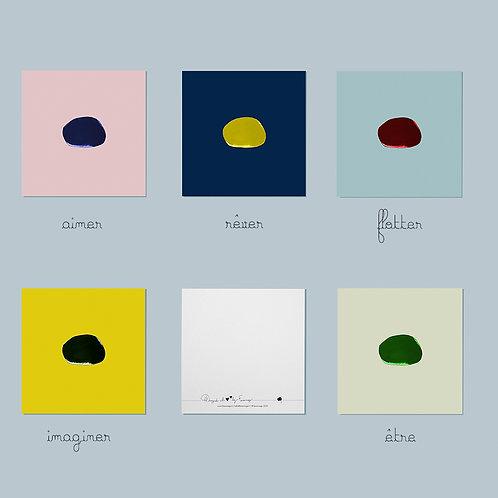 Cartes carrées Nuages Cailloux