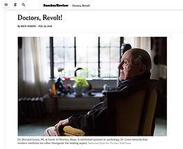 Bernard Lown, New York Times, Doctors Revolt
