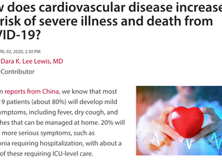 How Does Cardiovascular Disease Increase the Risk of Severe Illness and Death from COVID-19