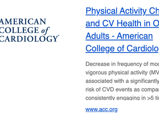 Physical Activity Change and CV Health In Older Adults