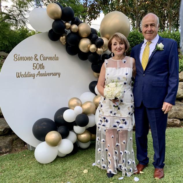 Carmela + Simone's 50th Wedding Annivers