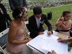 Zenah and Luke signing