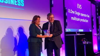 EVS X-ONE榮獲IABM的Peter Wayne獎