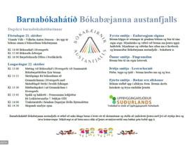 Dagskrá Barnabókahátíðar 21. og 22. október 2016