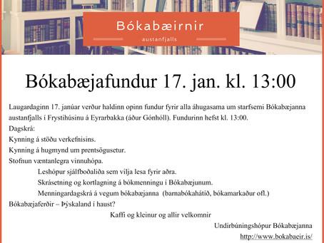 Bókabæjafundur 17. janúar 2015 kl. 13:00