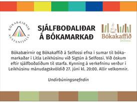 Bókamarkaður Bókabæjanna austanfjalls. Sjálfboðaliðar óskast!