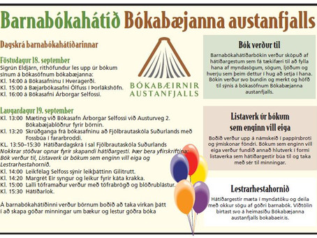 Barnabókahátíð Bókabæjanna austanfjalls 18. og 19. september 2015