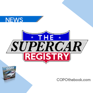 COPO the book now seen on the SuperCar Registry