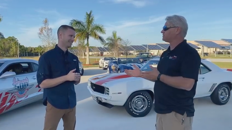 Matt Avery Featured In 'Destination Brevard' Video Celebrating Camaro Pacecars
