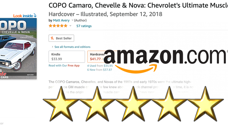 COPO the book Surpasses 50 Five-Star Reviews on Amazon.com