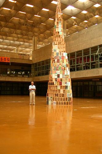 babel, 2006, architecture school's atrium, h 900 cm