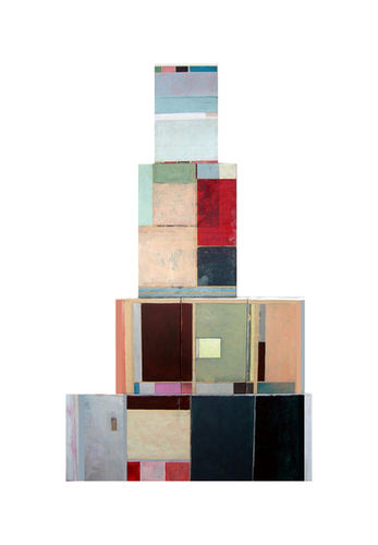tower II, 2008, oil and collage on canva