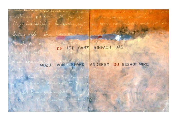 imaginary dialogue between M buber and V, 1998 180 X 280 cm