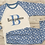 Thumbnail: Personalised Kids Blue cloud pyjamas