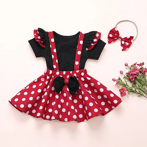 3 piece Minnie outfit set/ birthday /outfit/ fancy dress/ cute outfit