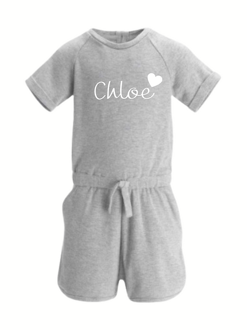 Girls playsuit/romper personalised outfit /birthday loungewear