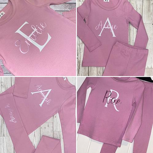 Kids Unisex Personalised Loungewear Set/Custom Luxury Kids Loungewear Pyjama Leg