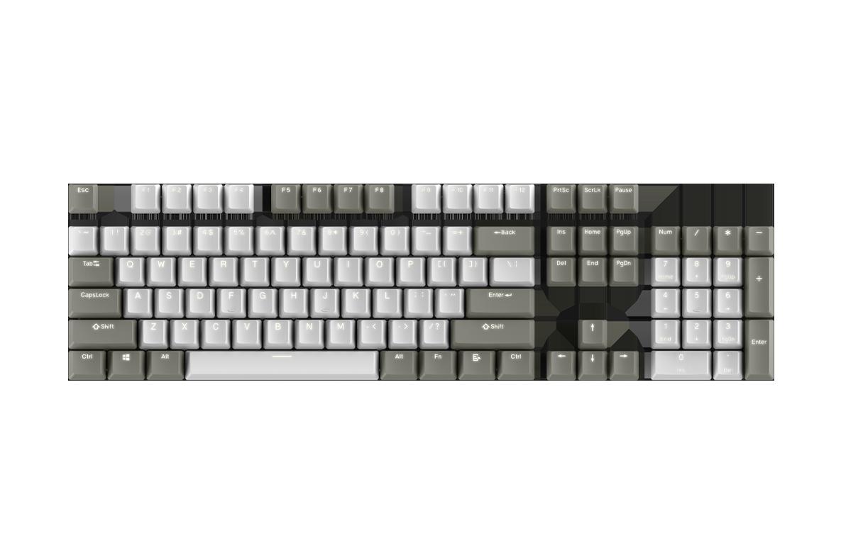 keycap 104 - pbt_white-grey